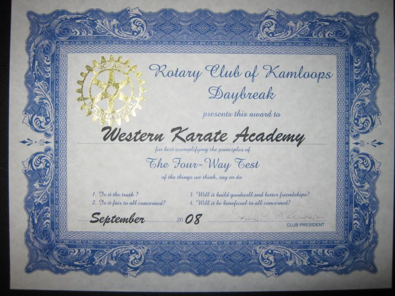 rotary club award kamloops