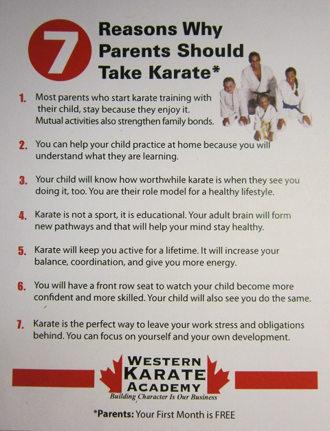 western karate academy parents